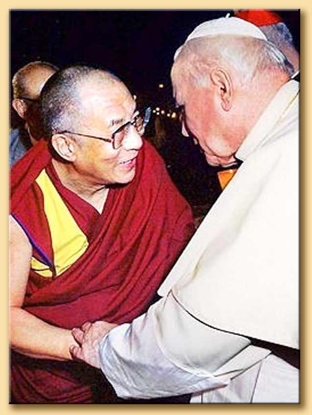 giovanni paolo II col dalai lama