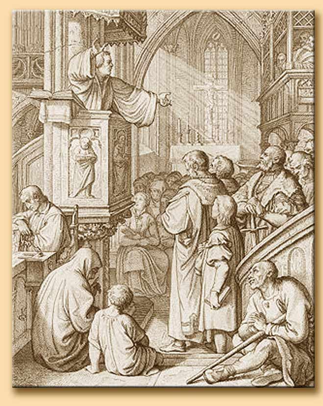 lutero predica a wittemberg