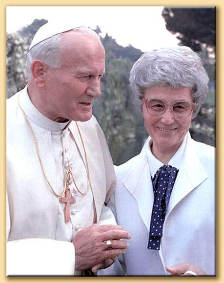 chiara lubich con giovanni paolo II